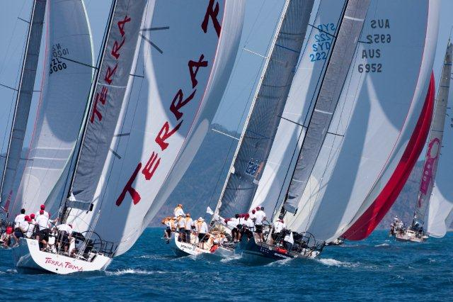 Close company on an island course at Audi Hamilton island Race Week 2012