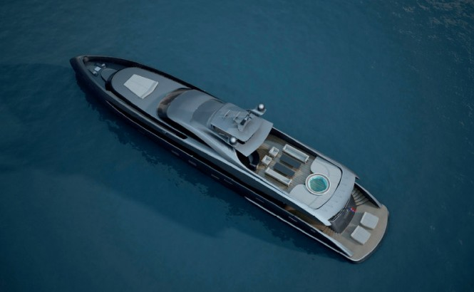 ER175 superyacht - view from above