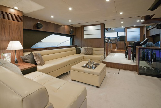 Fairline's Squadron 78 Custom yacht - Interior