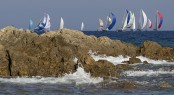 Fleet racing at the Rolex Swan Cup in Sardinia