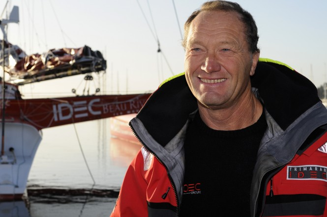 Francis Joyon - a skipper of IDEC superyacht Photo Credit: FRANCOIS VAN MALLEGHEM / DPPI / IDEC