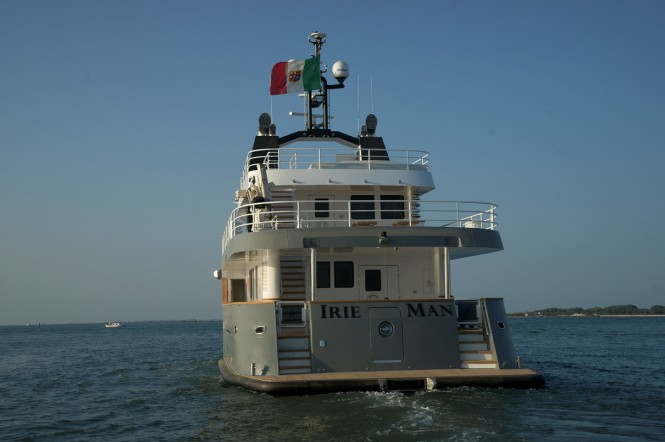 Irie Man superyacht - rear view