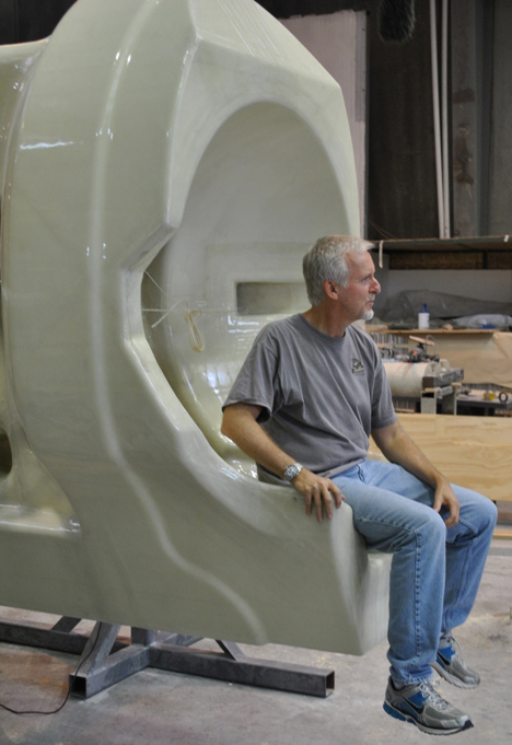 James Cameron at the McConaghy factory - Photo Credit: McConaghy
