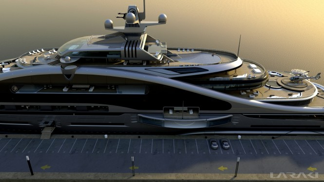 Laraki designed luxury yacht Prelude - side view