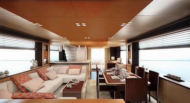 Luxury yacht Magellano 76 - Salon