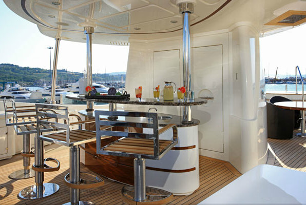 Luxury yacht Sofico - Sun Deck Bar