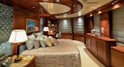 Master stateroom aboard luxury yacht O&#039;MEGA