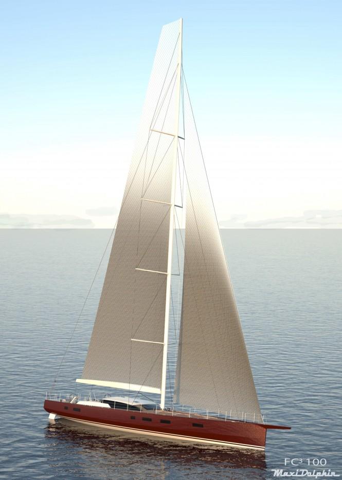 Maxi Dolphin FC100 superyacht