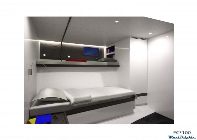Maxi Dolphin Yacht FC100 - Crew cabin