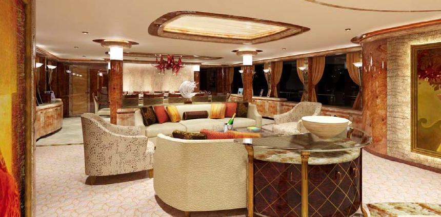Motor Yacht Lady Linda - Main Saloon