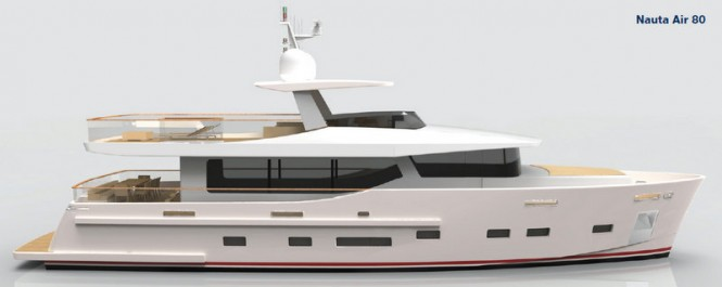Nauta Air 80 superyacht on which motor yacht Nauta Air 86 is based