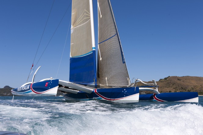 ORMA 60 trimaran yacht Team Australia - Photo Credit: Andrea Francolini/AudiTEAM AUSTRALIA