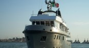 Ocean King 88 superyacht Irie Man - front view