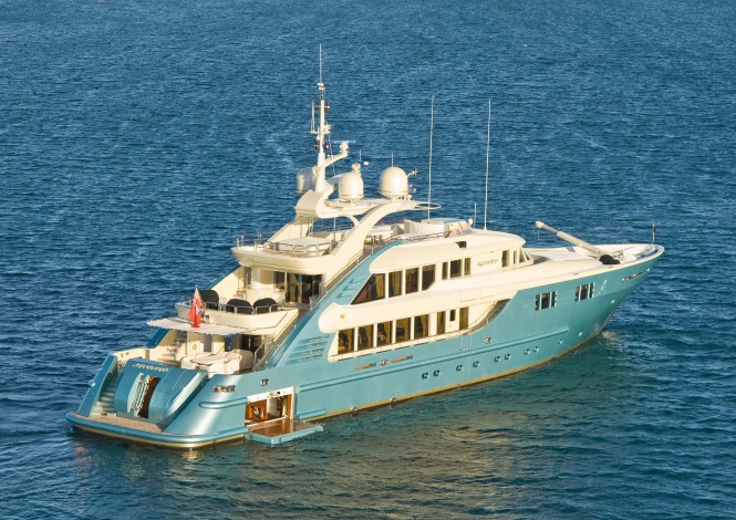 One of the latest superyachts refitted by Rivergate - 47m ISA luxury motor yacht Aquamarina