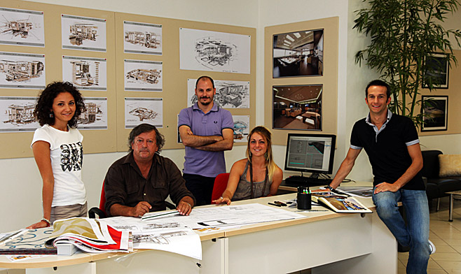 Overmarine Group Mangusta's in-house design team