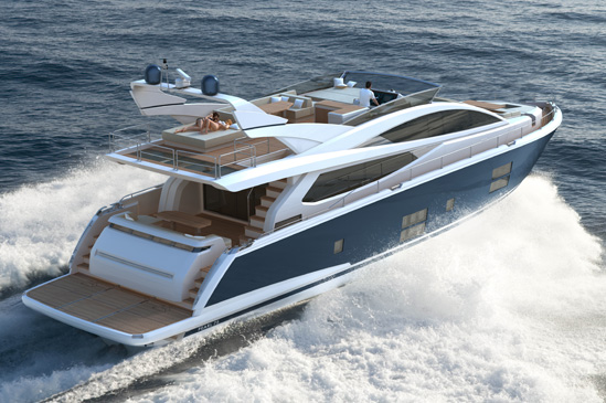 Pearl 75 yacht styled by Kelly Hoppen