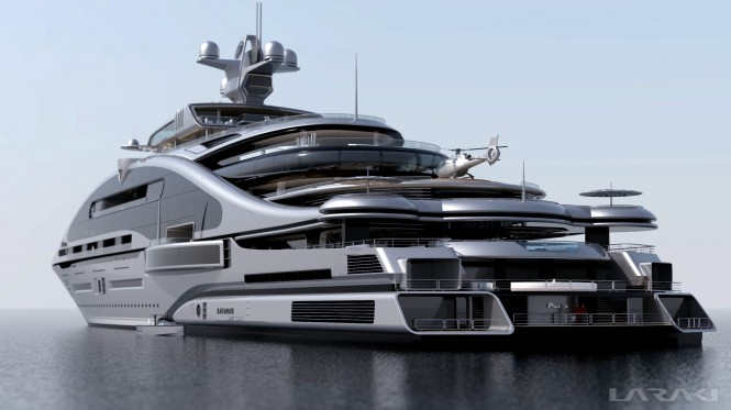 Prelude superyacht - rear view