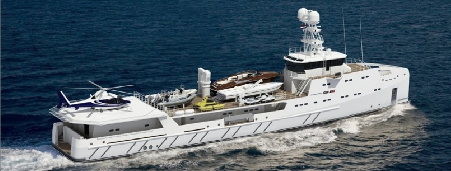 SEA AXE 6711 GAR&Atilde;ON by Amels to be support vessel to the 87m Lurssen megayacht ACE