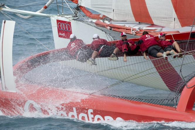 Sailing yacht Team Vodafone - Photo by Andrea Francolini/Audi