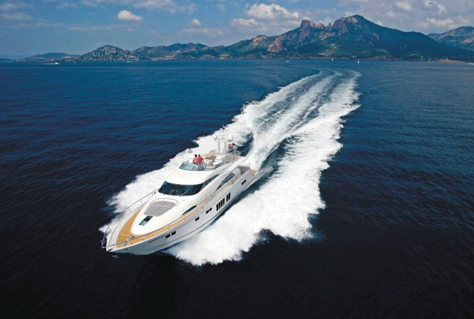 Squadron 78 Custom superyacht by Fairline Boats running