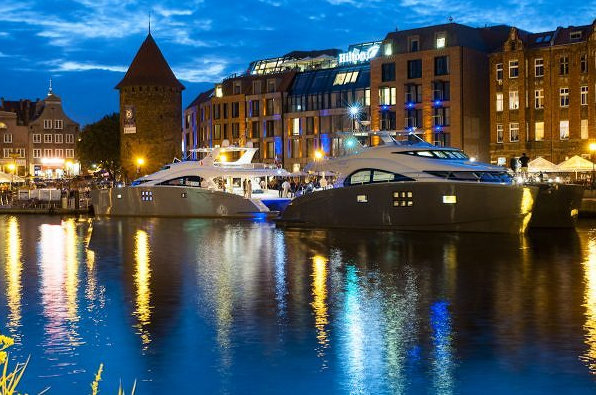 Sunreef luxury yachts EWHALA and SKYLARK presented at Hilton Hotel in Gdansk