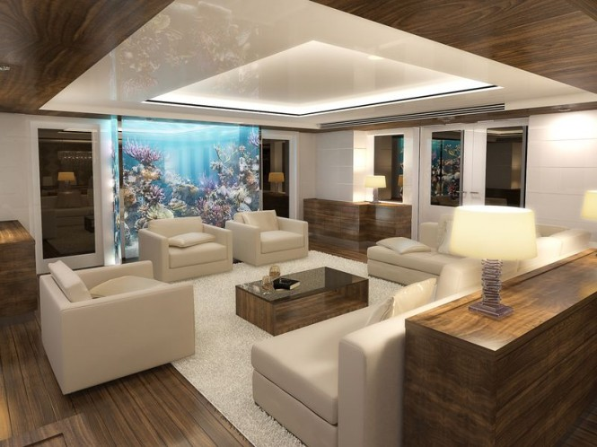 Superyacht Nassima - Lounge Photo credit VDP Studio