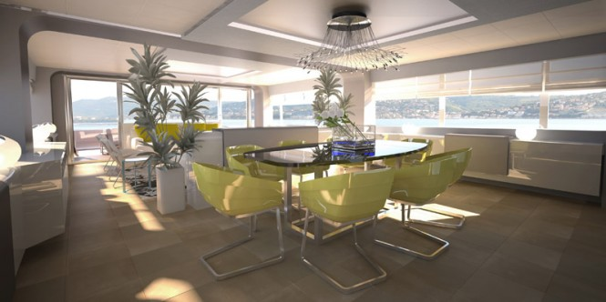 Superyacht Wider 150' - Dining