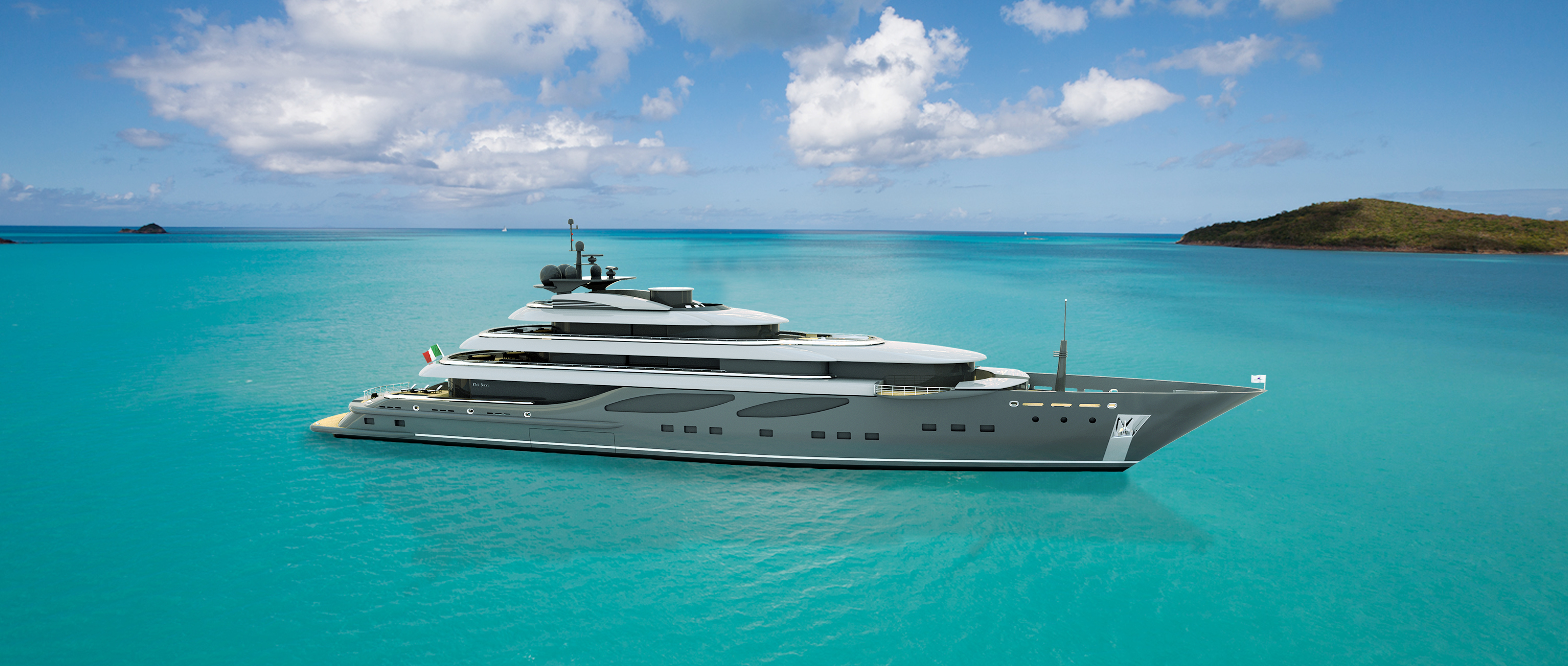 The Cbi 100 megayacht - A 100m superyacht project by Cbi Navi � Fipa Group.