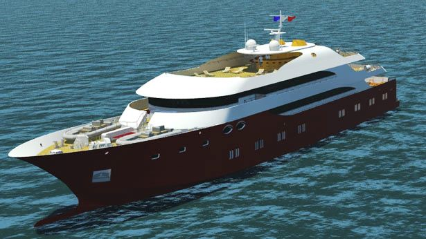 The GMVO 70m megayacht project by GMVO