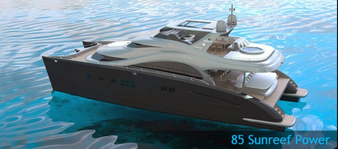 The new 85 Sunreef Power yacht with launch in 2013