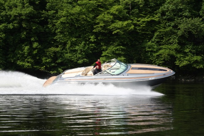 The new European edition of the 36 Corsair yacht tender by Chris-Craft