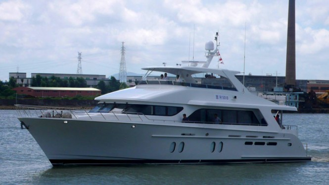 The newest Bravo 88 superyacht Lauderdale Bound under sea trials - Image courtesy of Cheoy Lee