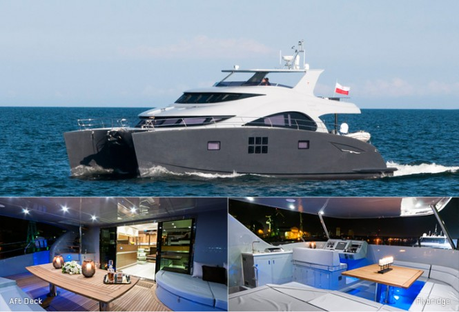 The newly launched 60 Sunreef Power yacht EWHALA by Sunreef Yachts