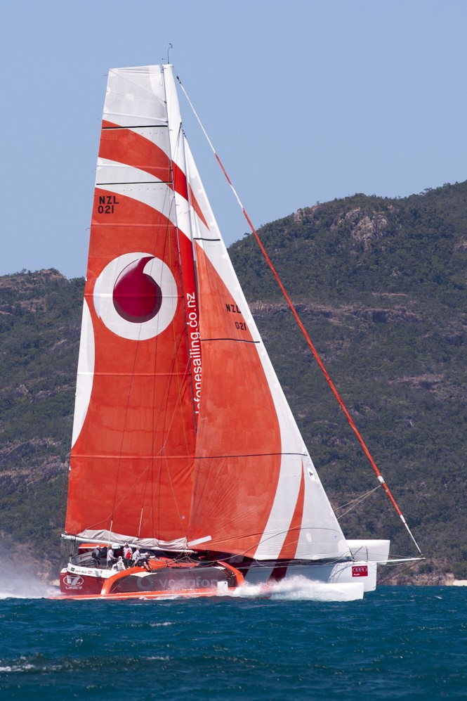 Trimaran yacht Team Vodafone at Audi Hamilton Island Race week 2011 - Photo credit: Andrea Francolini/AudiTEAM VODAFONE