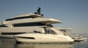 Wider 150' superyacht with the Wider 33' yacht tender