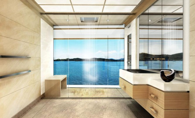110m megayacht Equilibrium - Bathroom