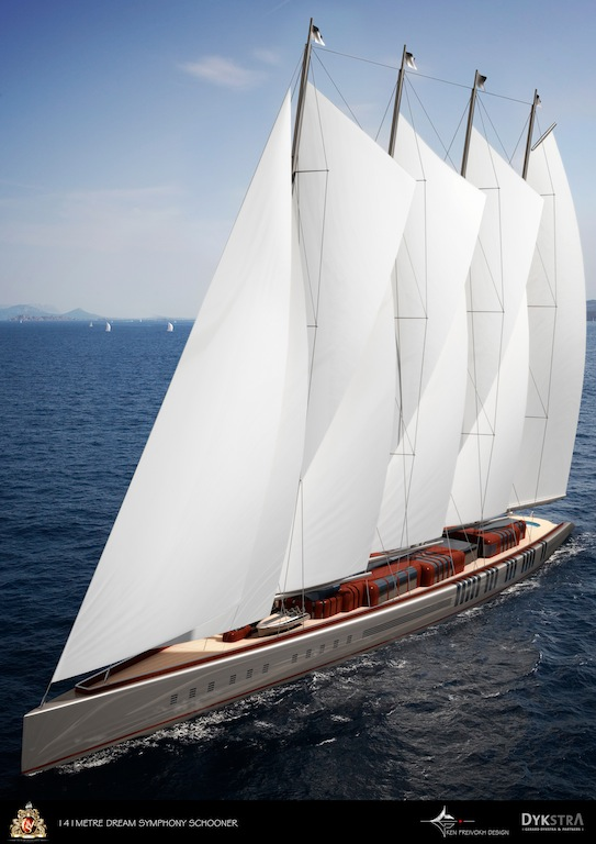 141m Sailing Yacht Dream Symphony