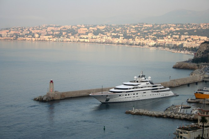 147m Mega Yacht Topaz in Nice - Photo Ian Bugby