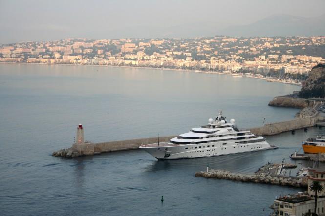 147m Mega Yacht Topaz in Nice - Photo Ian Bugby