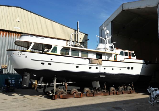 1972 motor yacht Heavenly Daze at Pendennis
