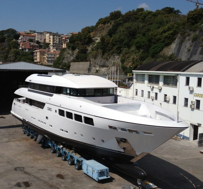 41m motor yacht OKKO by Mondo Marine at launch
