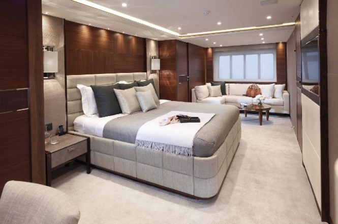 Aft VIP Stateroom aboard Imperial Princess yacht