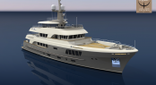 Alloy Yachts explorer yacht AY44 currently under construction - Image courtesy of Alloy Yachts