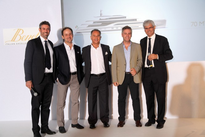 Benetti Press Conference at the Farimont Hotel in Monaco