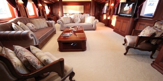 Bilgin luxury yacht M&M - Main Saloon
