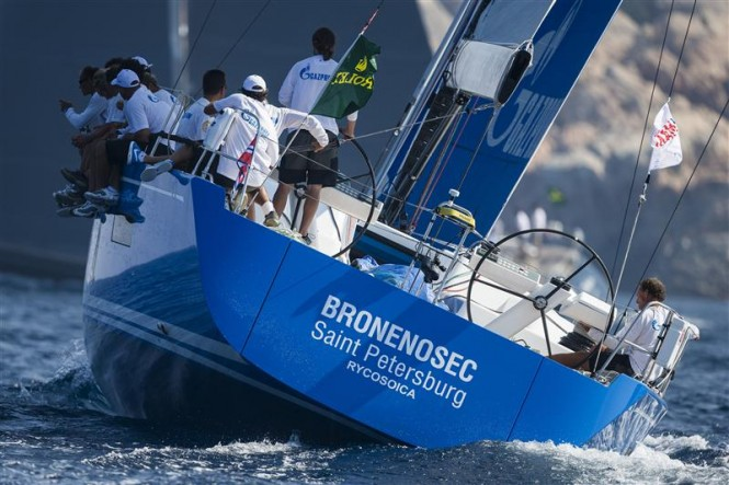 Bronenosec yacht kicked off in the lead - Photo by Rolex Carlo Borlenghi