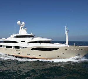CRN 130 motor yacht DARLINGS DANAMA premiers at the Monaco Yacht Show 2012