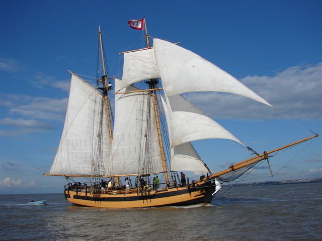 Classic sailing yacht HMS Pickle