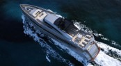 Columbus 40M Sport Hybrid yacht - view from above