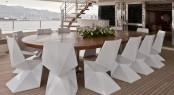 CRN motor yacht DARLINGS DANAMA - Upper Deck Dining